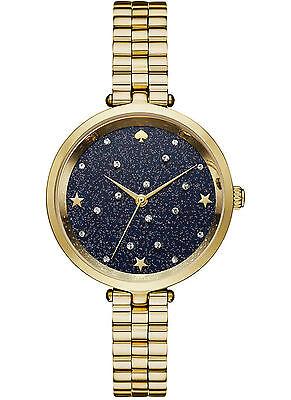 NEW Kate Spade New York KSW1211 Holland Gold / Blue Sand Dial Women's Watch
