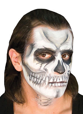 Ez Mu Voo Doo Skull Sponge Puff Powder Brush Makeup Accessory Kit - Halloween Voodoo Makeup