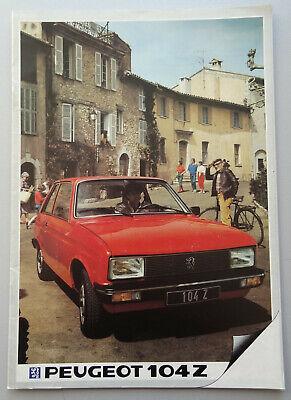 V17755 PEUGEOT 104Z - CATALOGUE - 1983 - A4 - FR FR
