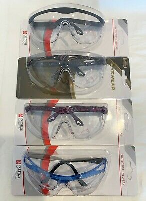 2 Pairs Safety Protective Eyewear Uv 400 Protection Anti-scratch Anti-fog