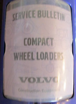 Volvo Compact Wheel Loaders Service Bulletins - 1 Book Sections 0-9