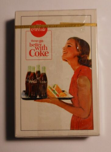 """Vintage Coca Cola 1963 """"Girl Serving Coke"""" Sealed Deck of Playing Cards #2"""