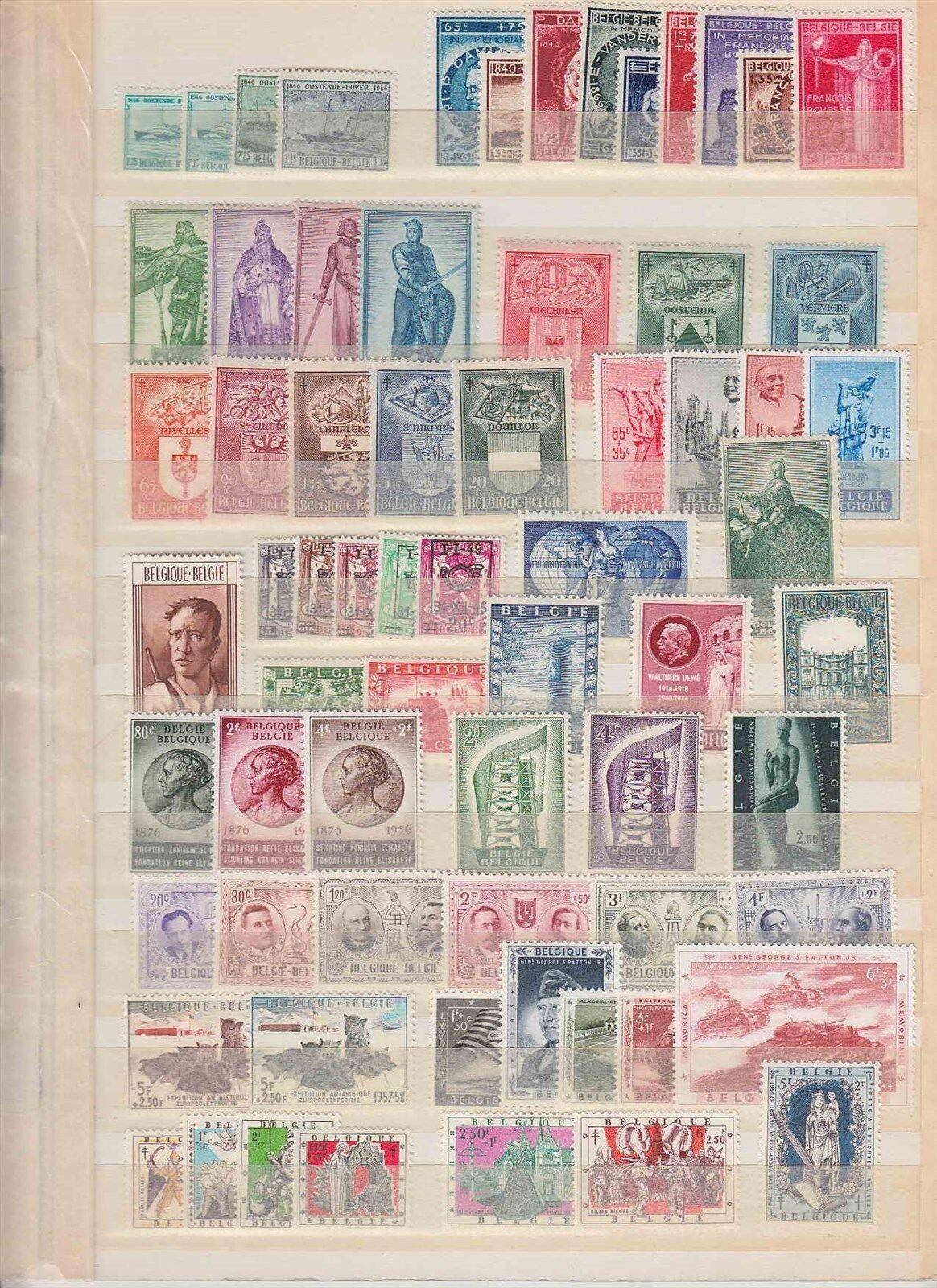 BELGIUM MNH stamps 1946-1960 (CV $500 EUR421)
