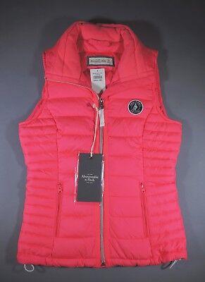 Abercrombie & Fitch Down Vest Ladies Girls XS Coral Pink Jacket Brand New w/ Tag](Girls Pink Ladies Jacket)