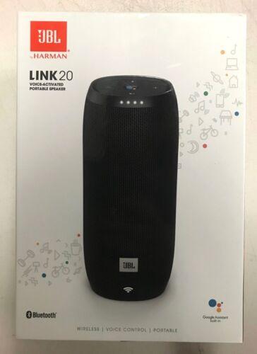 JBL LINK 20 Smart Portable Bluetooth Speaker with the Google Assistant built in Black JBLLINK20BLKUS