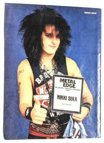 MOTLEY CRUE / NIKKI SIXX / MAGAZINE FULL PAGE PINUP POSTER CLIPPING (A4)