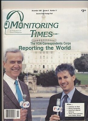 Monitoring Times November 1989 ( America's Secret Air Force DX Cambodia VOA)