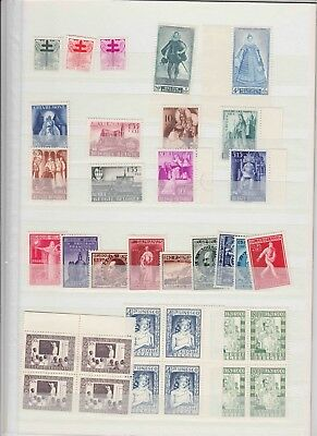 BELGIUM MNH stamps collection 1940-50s (CV $500 EUR450)