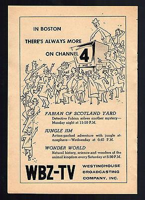 1956 Tv Ad   Wbz Tv In Boston Massachusetts   Jungle Jim   Wonder World