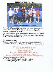 Penfield Social Tennis Club at Salisbury - new members wanted Salisbury Salisbury Area Preview