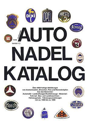 AUTO NADEL KATALOG (Anstecknadeln, Broschen, Pins,..von ca. 1900 bis 1990)