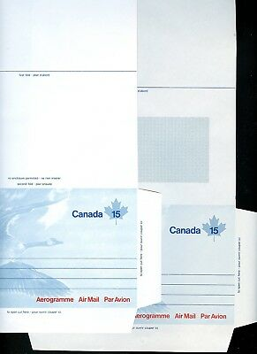 LOT 73253a  UNUSED COLLECTION OF 9 AIR LETTERS OF THE CANADA GOOSE GEESE BIRDS