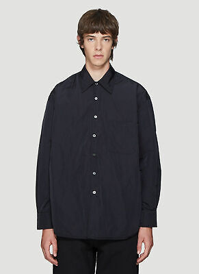 OUR LEGACY Mens Black Button Down Jacket 50