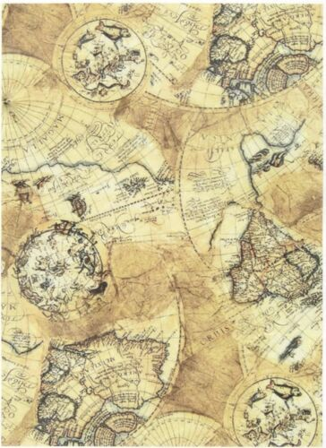 Rice Paper for Decoupage Scrapbooking Sheet Craft Vintage Old Map