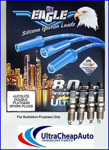 PLATINUM SPARK PLUGS & IGNITION LEADS - TOYOTA HILUX, 2.7L,.3RZ-FE,#E54567