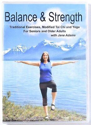 Balance & Strength Exercises For Seniors DVD 9 Practices Tai Chi/Yoga >NEW