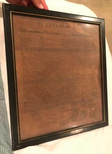 Declaration of Independence Framed vintage antique copy 1776 constitution print