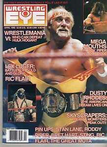 WRESTLING-EYE-APRIL-1990-HULK-HOGAN-BRET-HART-RIC-FLAIR-DUSTY-RHODES-WWE-WWF-NWA