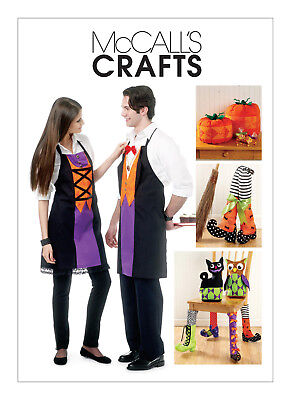McCall's Costume Pattern Halloween Home Decorations Miss Men Apron Pumpkins Cat. - Cat Halloween Costume Pattern
