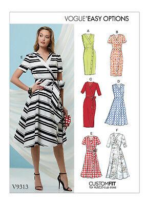 Vogue V9267 Easy Options Custom Fit PATTERN Misses Dress Size 6-22