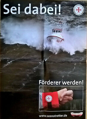 "DGzRS - Die Seenotretter Plakat DIN A1 - Motiv ""Sei dabei!"""