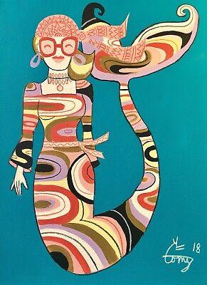 EL GATO GOMEZ RETRO PUCCI FASHION ILLUSTRATION POP ART MOD PSYCHEDELIC MERMAIDS