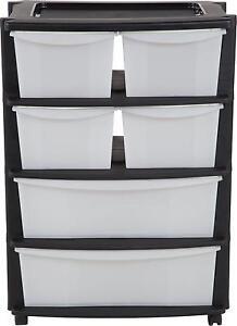 6 Plastic Storage Drawers