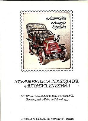DOCUMENTO FILATELICO F.N.M.T. Nº 1 1977 SALON AUTOMOVIL