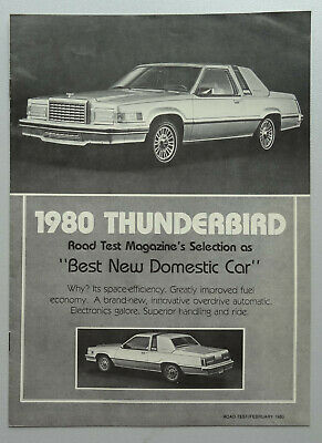V16336 FORD THUNDERBIRD - CATALOGUE - 1980 - 20x27 - CND GB