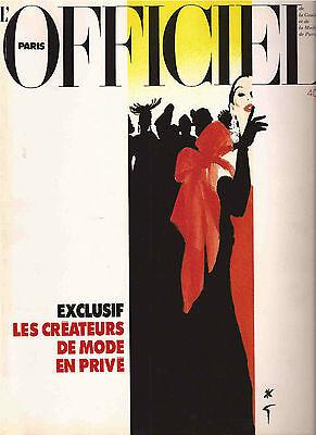 Rene Gruau Illustrated L'Officiel de la Couture 1991-Pierre Berge-Edward Hopper