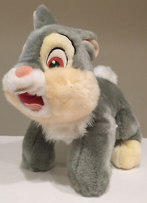 """THUMPER Disney Store Plush Toy Bambi 12"""" SOFT grey BUNNY RABBIT NEW WITH TAGS"""