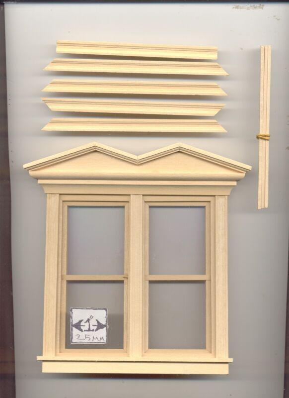 Victorian Picket Roof Ridge Cap dollhouse wooden #7061 1//12 scale miniature trim