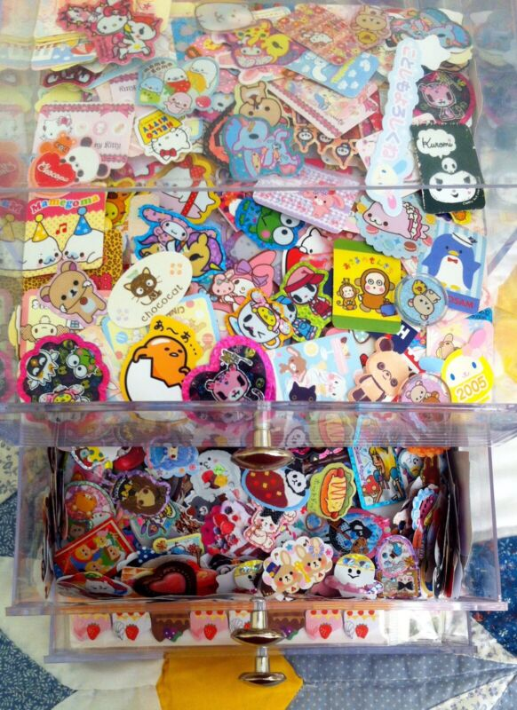 Kawaii Sticker Flake Surprise Pack- 50 Flakes Japan Sanrio San X Mind wave Kamio