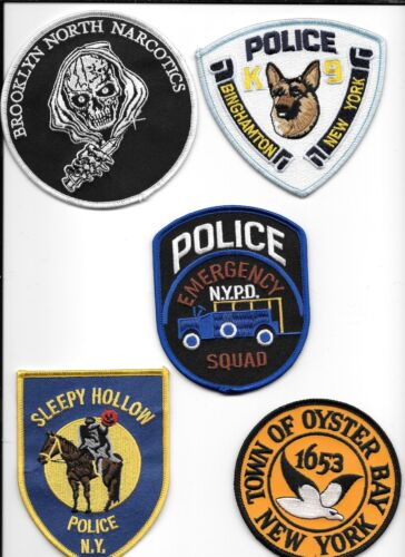 Clearance:  New York - 5 Patch Set - # 16 shoulder police patch (fire)