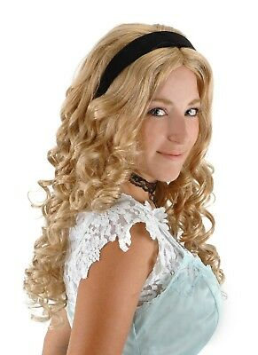 Alice In Wonderland Adult & Teen Costume Wig With Headband By Elope Licensed New](Teens In Costumes)