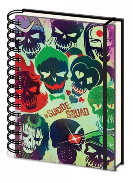 Official Suicide Squad A5 DC Skull Joker Harley Quinn Notepad Notebook Film Gift