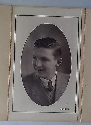 New 1930s Mens Fashion Ties 1930s B/W Jerome Studio Photograph. Young British Man in Suit, Collar & Tie $6.99 AT vintagedancer.com