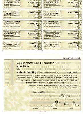Austria Antriebstechnik G. Bauknecht AG  1991 Spielberg    100 Schilling