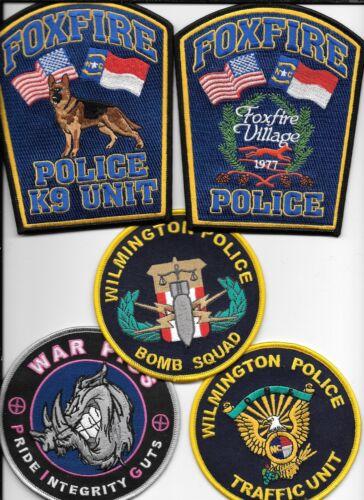 Clearance:  North Carolina - 5 Patch Set - # 18 shoulder police patch (fire)