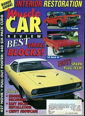 Muscle Car Review Magazine March 1993 Interior Restoration, Best Small