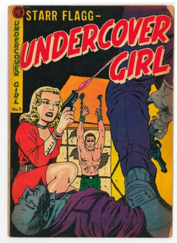 Undercover Girl, Starr Flagg (1952) #5-7 (GD+ to VG/FN) Complete series, VHTF