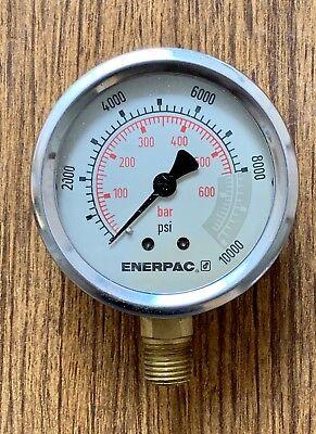 Enerpac Hydraulic Pressure Gauge Psi Or Bar With 14 Npt Thread G2535l