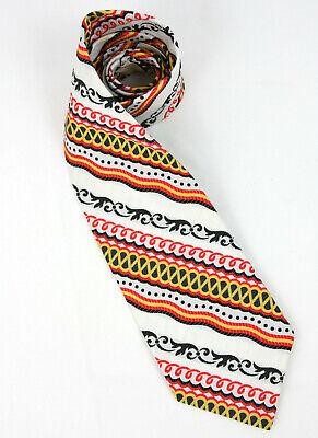 1960s – 70s Men's Ties | Skinny Ties, Slim Ties VTG 1960's Sulka Striped Swirls Colorful Men's Tie Necktie Red White Black - 54