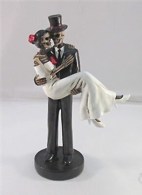 Day of The Dead Wedding Couple Bride and Groom Figurine DOD Skeleton Skull