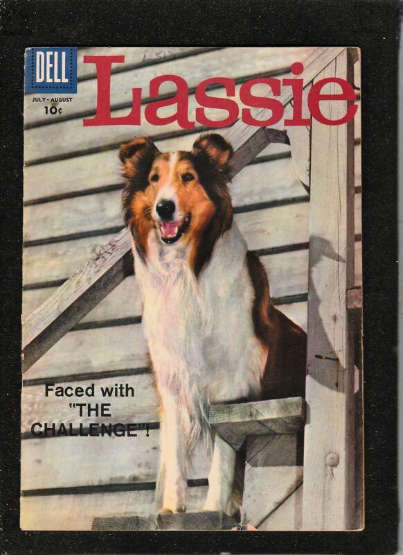 LASSIE #48 1958 DELL COMICS  TV/ MOVIE COMIC BOOK  PHOTO COVER