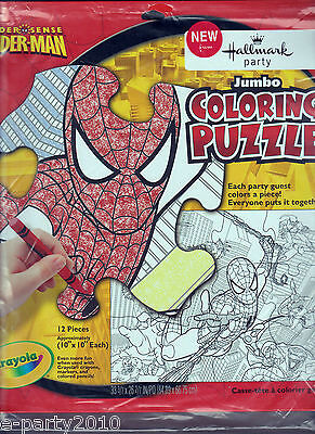 Spider-man Spider-sense Jumbo Coloring Puzzle Birthday Party Supplies