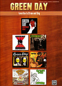 GREEN DAY FAVORITES GUITAR TAB SHEET MUSIC BOOK NEW