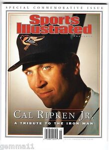 CAL RIPKEN Jr. Sports illustrated OCTOBER 2001 MINT A TRIBUTE TO THE IRON MAN