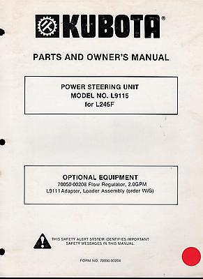 Kubota Power Steering Unit Model L9115 For L245f Parts Owners Manual