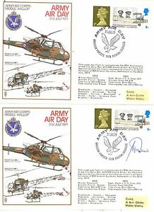 Army-Air-Day-July-1971-BFPS-1176-pair-of-covers-1-signed-pilot-AAC